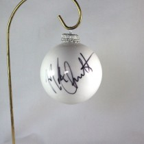 FFF Charities - Mark Chesnutt - 2017 White Christmas Ornament #4